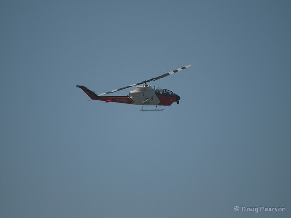 N109Z a USFS Cobra which is used in the USFS Fire Watch program arrives at Hansen Dam for American Heroes Airshow 2012.