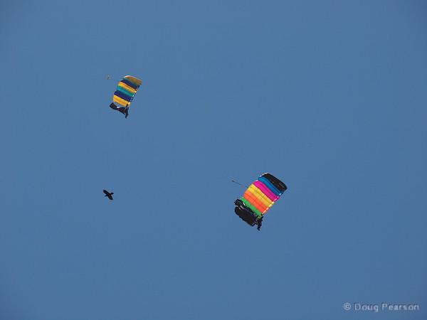 Parachutists arrive, number 1