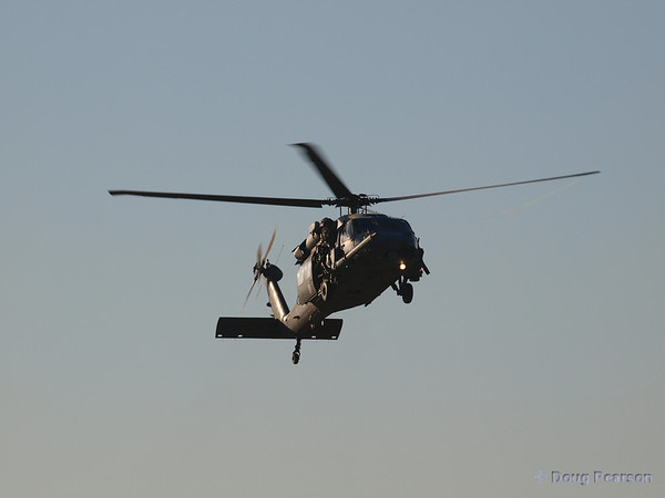 USAF 309, a Sikorsky HH-60G Pave Hawk from 66th Rescue Squadron on approach to Hansen Dam for American Heroes Air Show 2012.