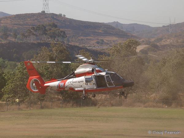 USCG 6584 landing at Hansen Dam for American Heroes Airshow 2012.