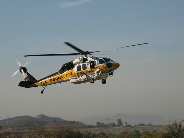 N190LA landing at the 2014 AHAS Los Angeles