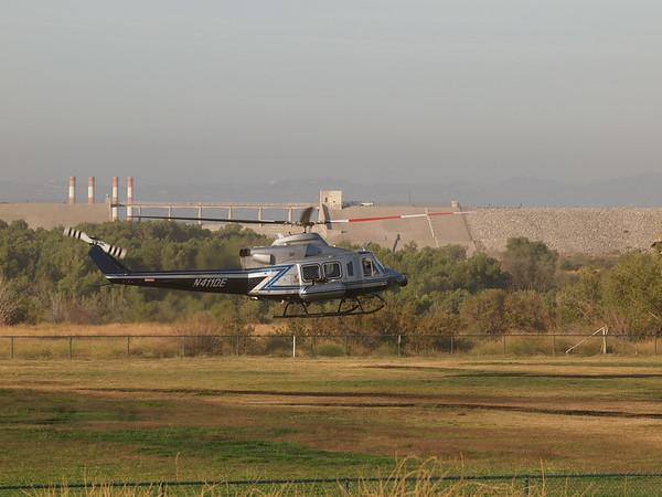 N411DE landing at the 2014 AHAS Los Angeles