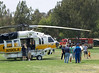 LA County Fire Department Firehawk, Copter 19 being checked out by the attendees of  the American Heros Airshow June 24, 2006