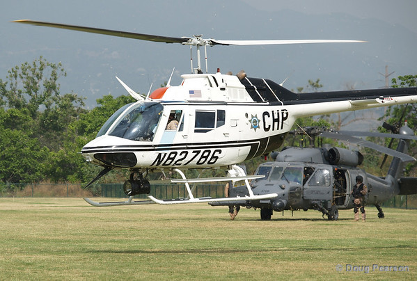 CHP helicopter at the American Heros Airshow June 24, 2006