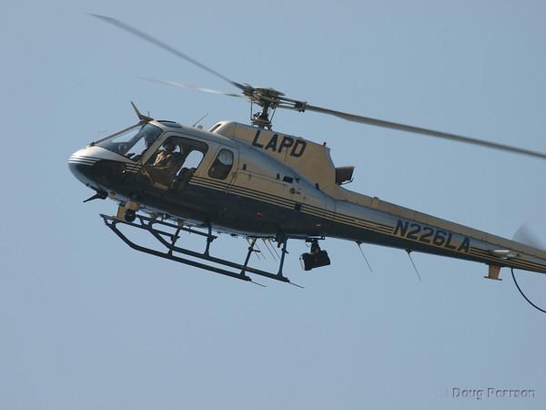 LAPD N226LA over 2008 Heroes Airshow, Hansen Dam, Los Angeles