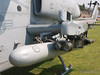 A view of the weapons mount on Helicopter 701, 2008 Heroes Airshow, Hansen Dam, Los Angeles
