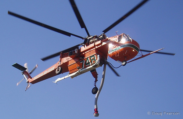 Helicopter operations at Burbank Brush Fire
