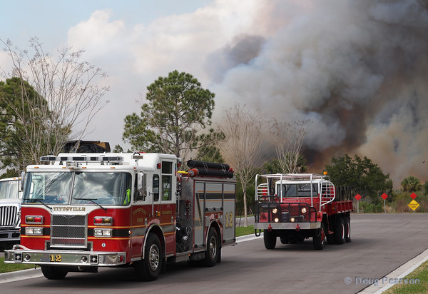 Titusville Engine 12 at a Brush fire