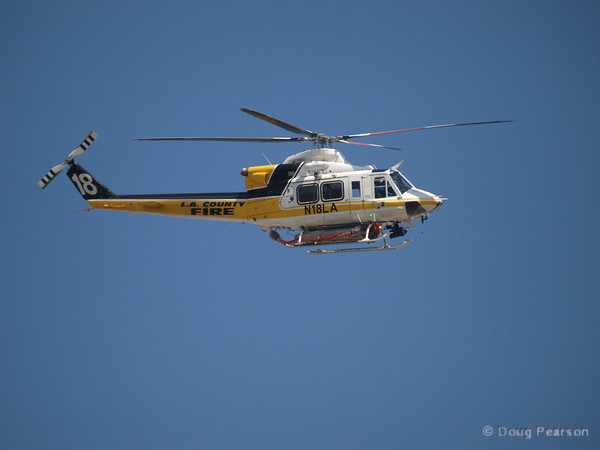 Copter 18 does a flyby of Los Angeles County Fire Station 158 in Gardena on Fire Service Day in 2012