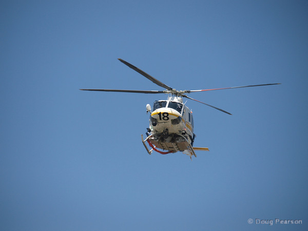 Copter 18 does a fly over of Los Angeles County Fire Department Station 158 in Gardena