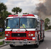 Brevard County Fire Engine 224 at a Brush fire in Titusville, FL.