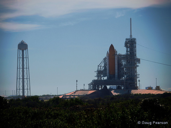 Space Shuttle Atlantis on Pad 39A ready for STS-129 ISS resupply mission.