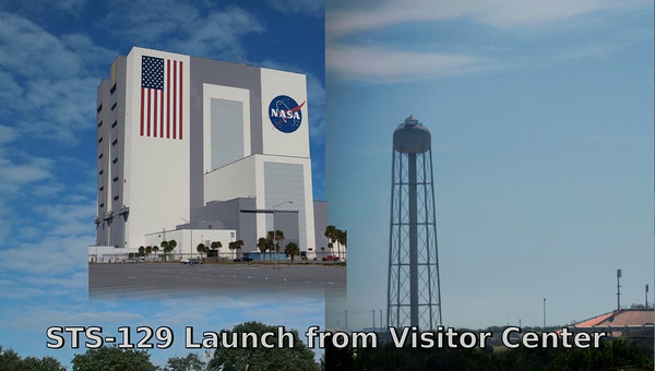Launch of STS-129 as seen from the KSC Visitor Center