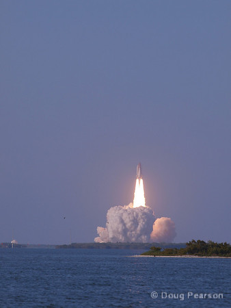 Discovery lifts off on STS-133