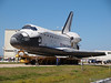 Space Shuttle Atlantis leaving the Orbiter Processing Facility and heading to the VAB for the last time