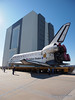 Atlantis is arriving at the VAB for the last time to be prepared for STS-135 the final Space Shuttle flight.