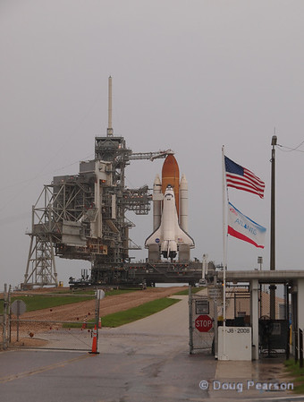 Atlantis (OV104) waits for Launch on mission STS-135 on launch pad 39A at Kennedy Space Center.