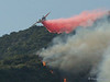 Cal Fire Air Tanker 75 drops on the Brush Fire in Sierra Madre, March 26, 2008
