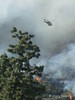 LA County FIre Department, Copter 18 drops on the Brush Fire in Sierra Madre, March 26, 2008