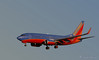 Southwest 737 preparing to land