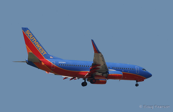 N459WN a Southwest 737 at Burbank Airport