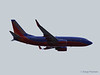 A Southwest 737 flies out of Burbank
