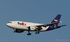 FedEx N805FD an Airbus A310-324 is arriving at BUR, BOB Hope airport in Burbank.