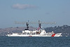 """USCGC - SHERMAN"" (WHEC –720) cruising in the San Francisco Bay during Fleet Week's Parade of Ships"