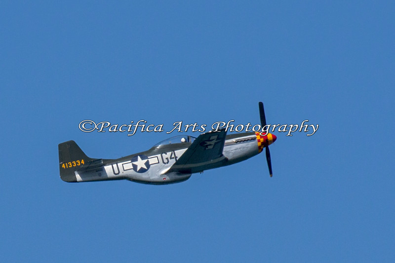 P51 Mustang flying by during the Heritage Flight (2012)
