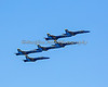 All six Blue Angels flying in close formation (2012)