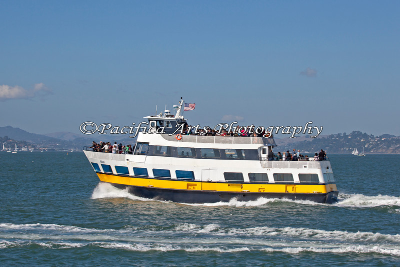 """This is """"Oski"""", part of the Blue & Gold fleet at Pier 39 in San Francisco."""