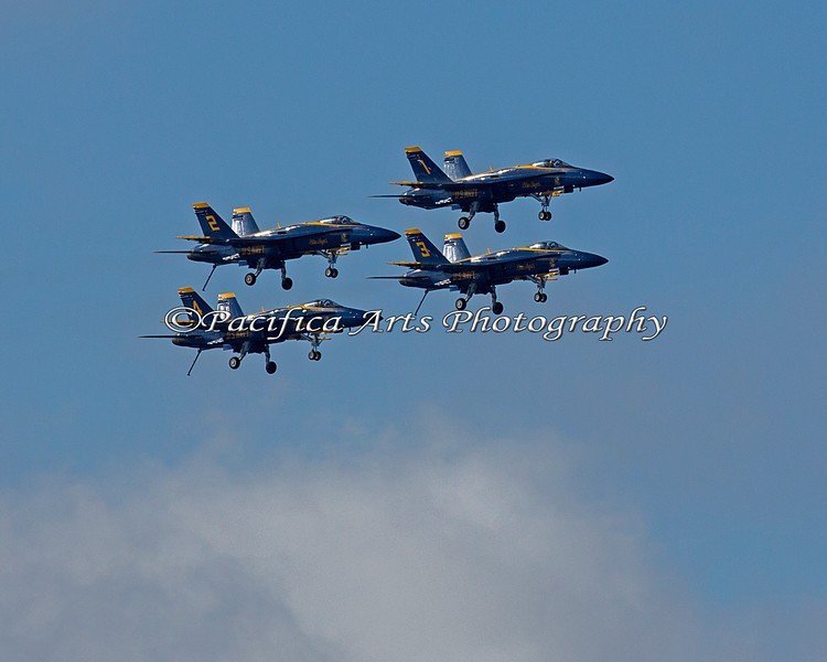 Blue Angels on a fly by with landing gear down. (2012)