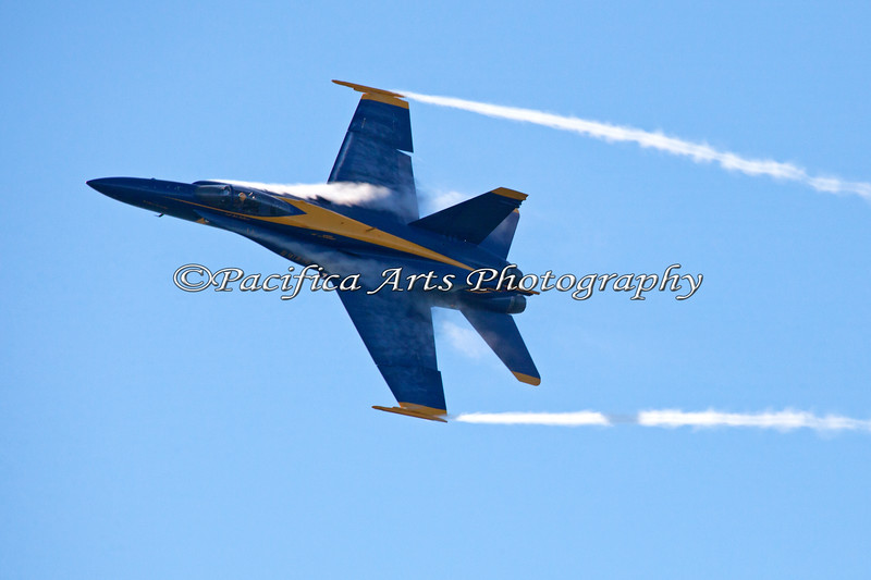 Blue Angel #5 with vapor trails. 2011