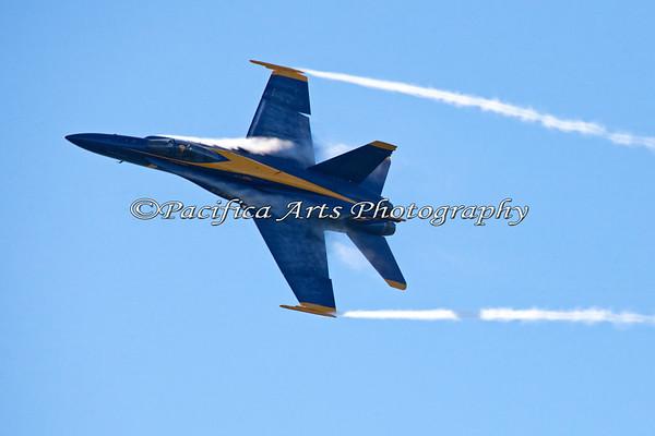 Blue Angel #5 with vapor trails. 2011
