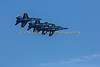 Blue Angels flying in Echelon Formation. (2012)