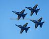 Blue Angels flying in Diamond Formation (2012)
