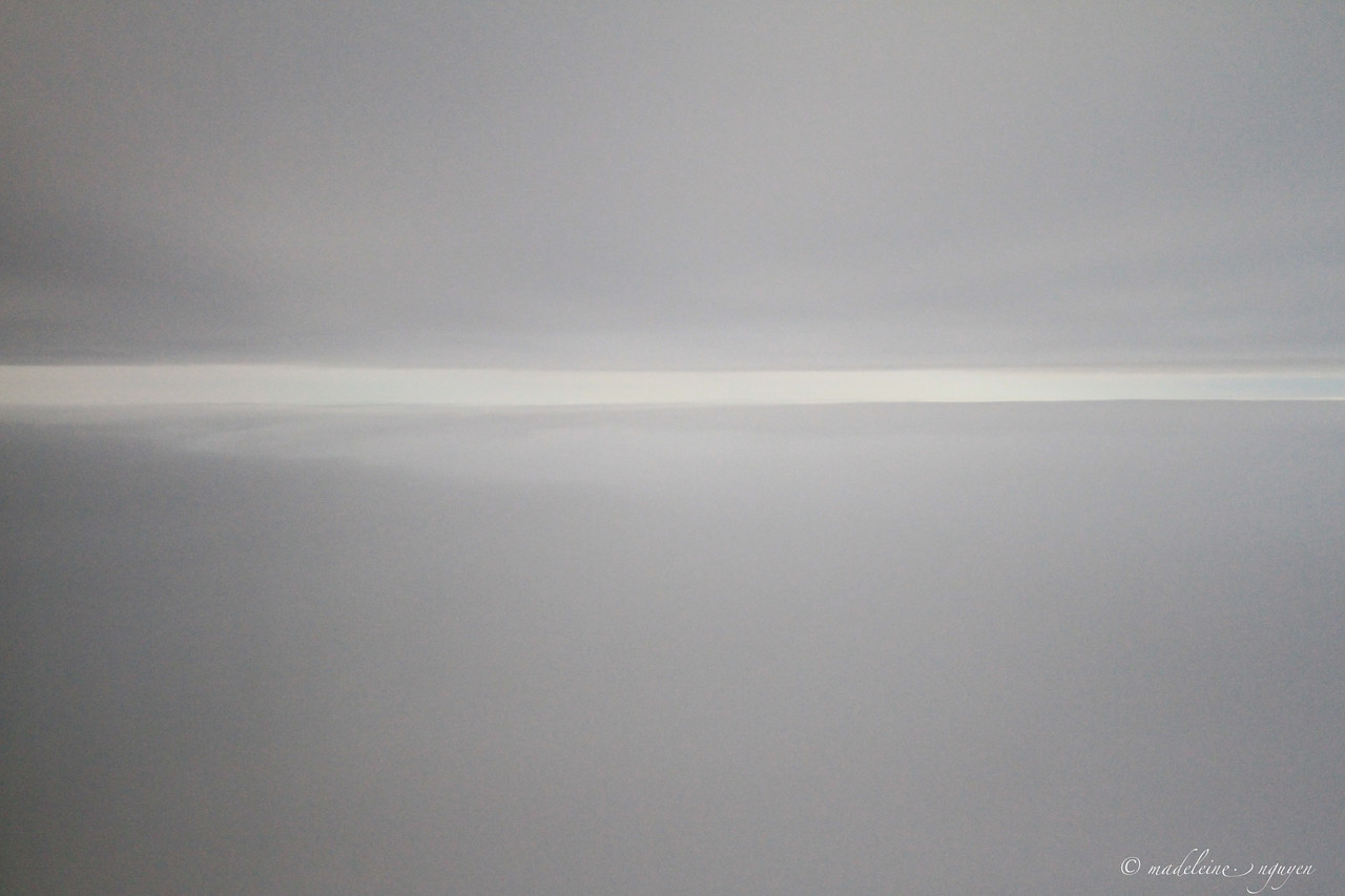 Just took off from SFO and this my view during the ascent. Makes me wonder if this is what people see when they recall a near death experience because this is what I would imagine it'd look like.