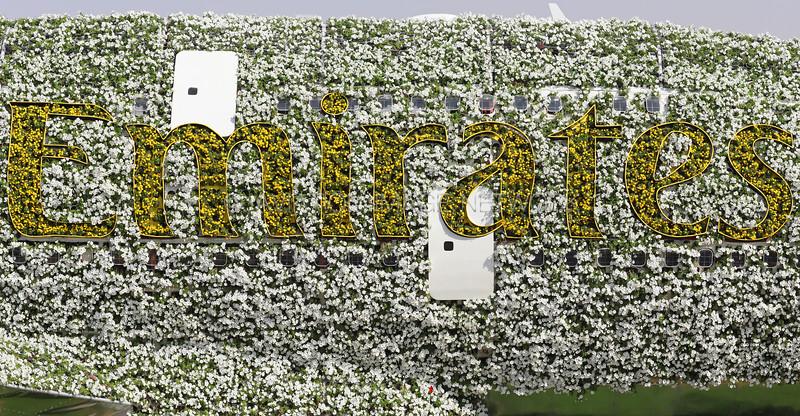 Emirates A380 at Dubai Miracle Garden