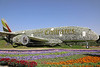 Emirates A380 at Dubai Miracle Garden