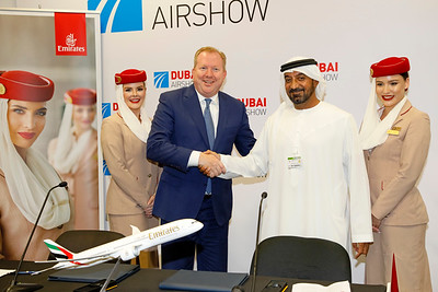 HH Sheikh Ahmed bin Saeed Al Maktoum | Chairman and Chief Executive | Emirates Airline and Group & Stanley A. Deal | President and Chief Executive Officer | Boeing Commercial Airplanes