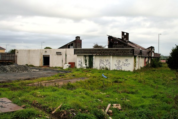 Former Officers Mess and Ablutions (much modified), Ards Airfield. Demolished.