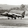 Sea Harrier at Ards airfield, 1987.