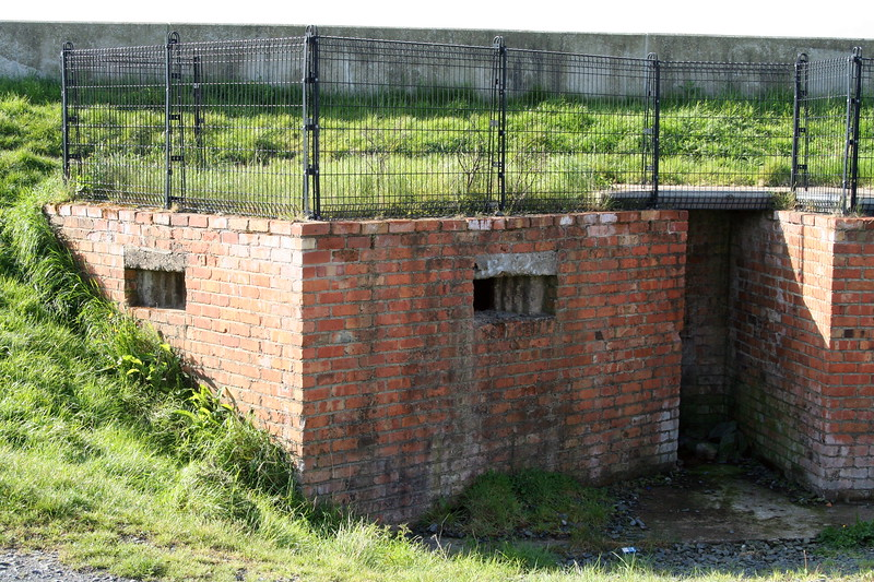 Multiple Pillbox on the south perimeter of Ards Airfield. The base of the structure was the original level of the dyke. The pillboxes also had a clear view seawards.