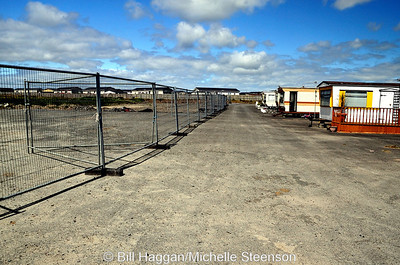 Demolition of the runways for new housing at Ballyhalbert airfield.