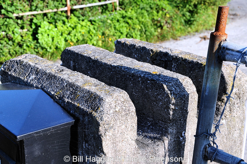 Barrier supports. The original entrance to Ballyhalbert airfield.