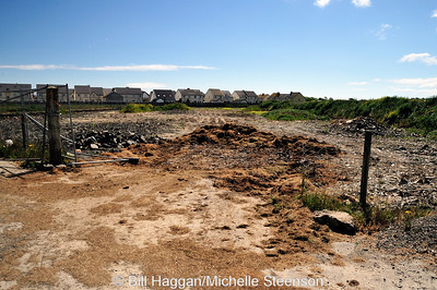 Runway destruction at Ballyhalbert Airfield.
