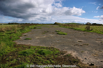 Bellman hanger foundations at Ballyhalbert airfield.
