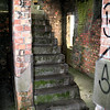 Stairs leading to the upper floors of Ballyhalbert Watch Office.