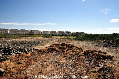 Remains of a runway at Ballyhalbert Airfield.
