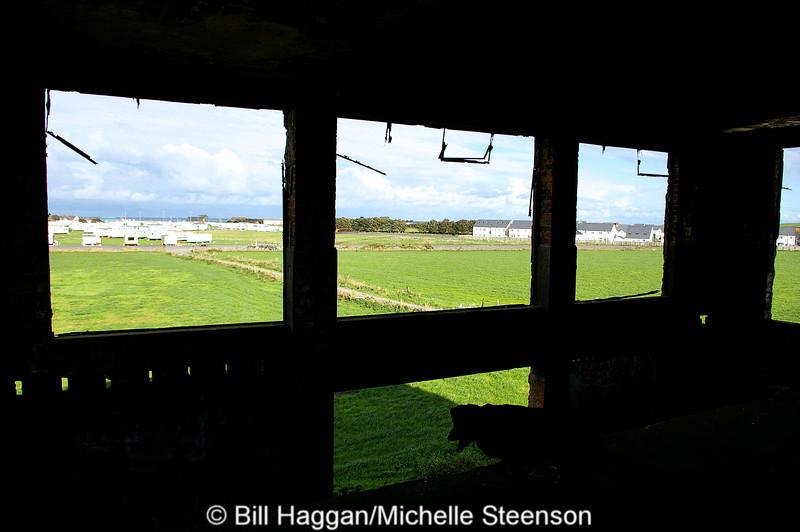 View from the derelict Watch Office, Ballyhalbert Airfield.